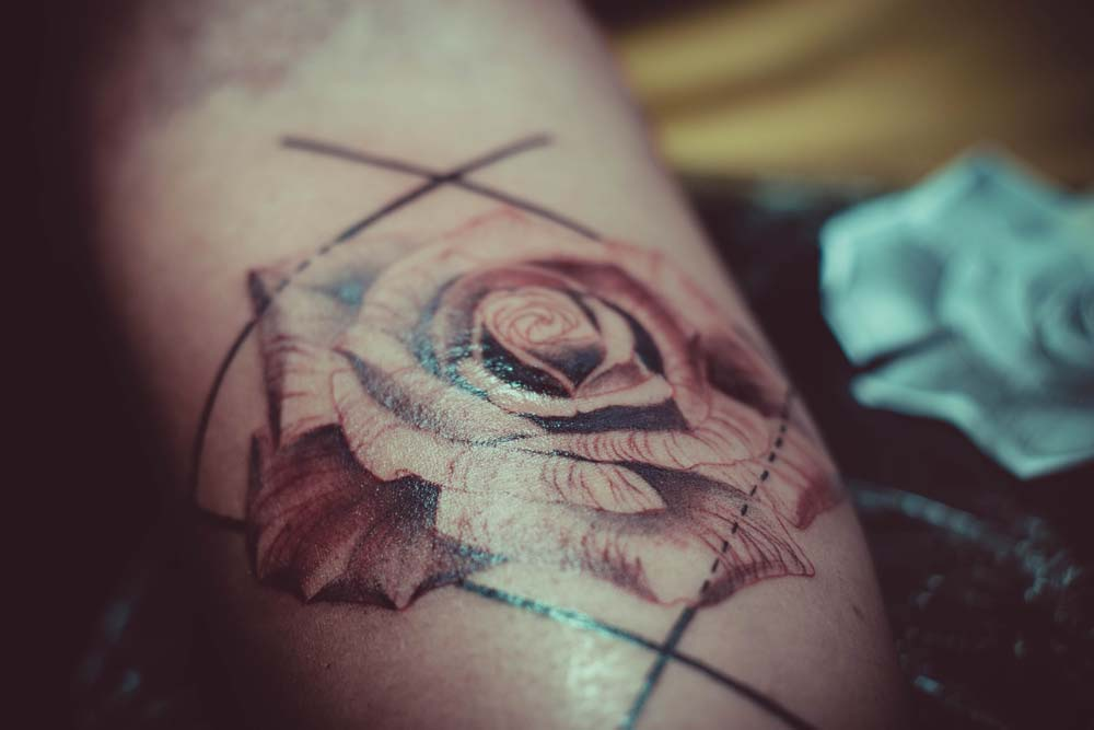 Fresh floral tattoo.