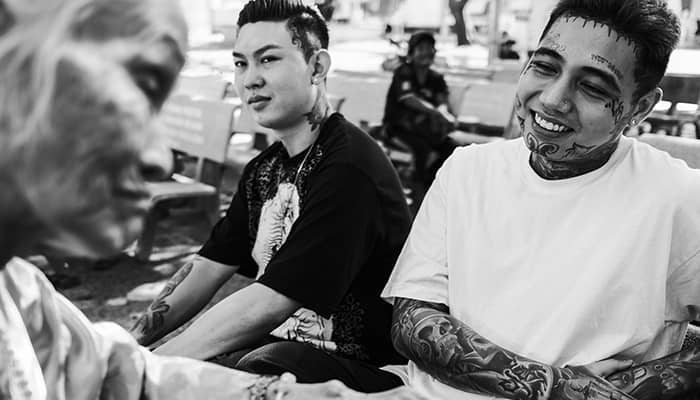 Two men with tattoos