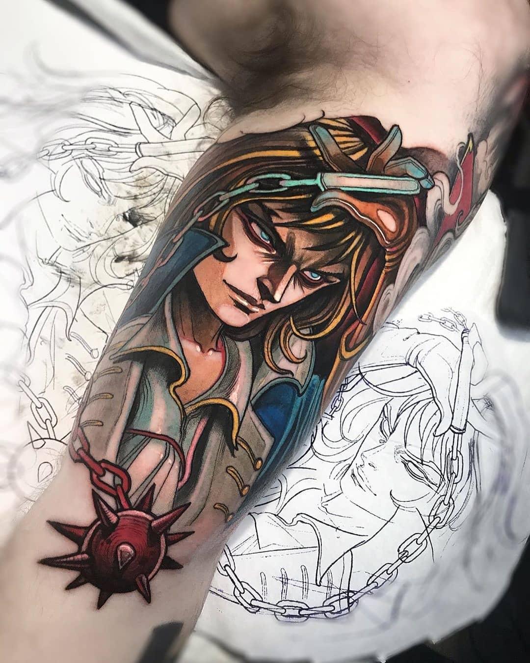 Trevor Belmont tattoo