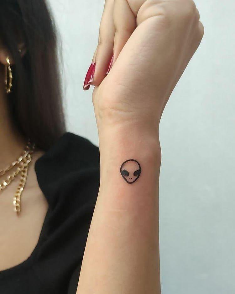 Small Alien Tattoo