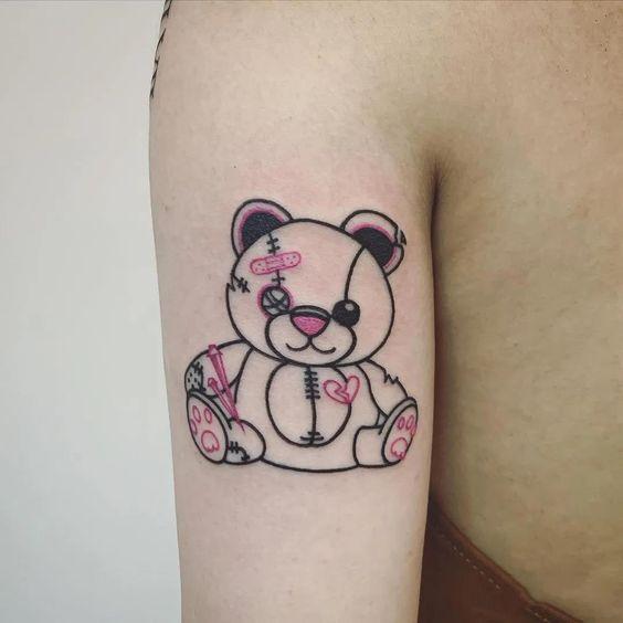 Teddy Bear Tattoo 1