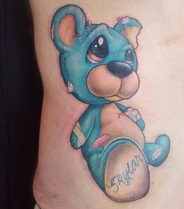 Teddy Bear Tattoo 17