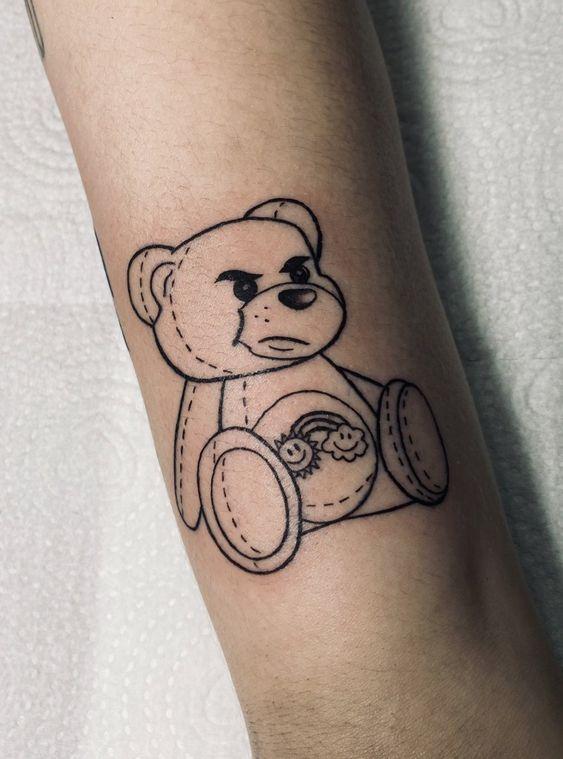 Teddy Bear Tattoo 2