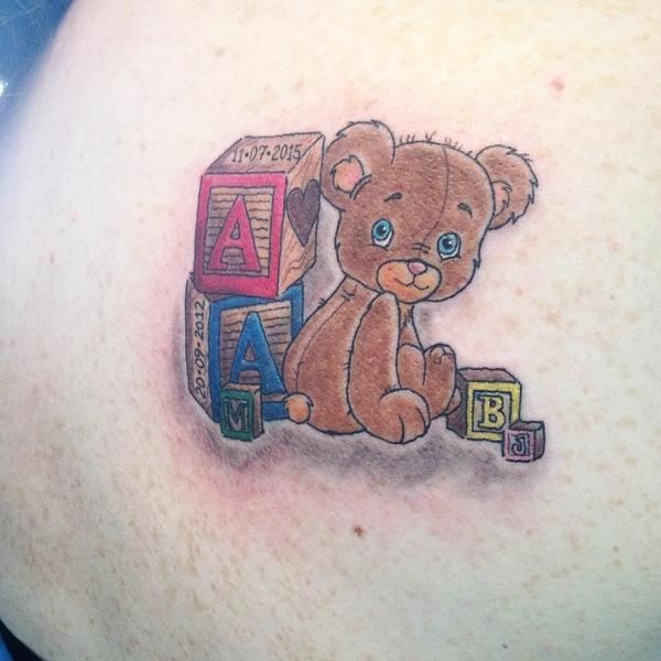 Teddy Bear Tattoo 22