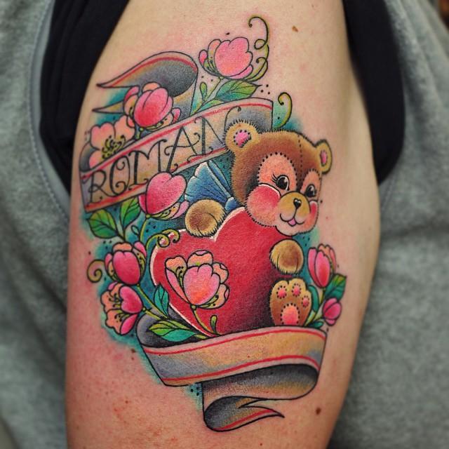 Teddy Bear Tattoo 36